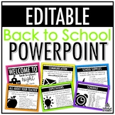 Back to School/Open House/Meet the Teacher PowerPoint | EDITABLE