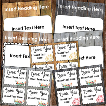 Back to School Open House Meet the Teacher Rustic Farmhouse Shabby Chic Editable