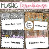 Back to School Open House Meet the Teacher Rustic Farmhouse Shabby Chic Editable