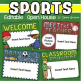 Back to School Open House Meet the Teacher Sports Theme PowerPoint Editable