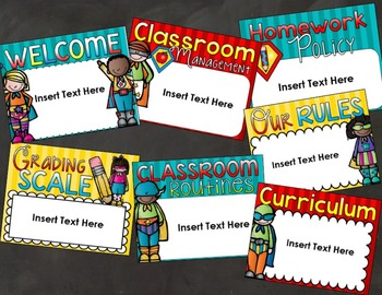 Back to School Open House Meet the Teacher Superhero PowerPoint Editable