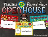 Back to School Open House Meet the Teacher Superhero PowerPoint Editable