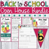 Back to School Night Forms - Open House, Meet the Teacher (Tropical Fruit Theme)