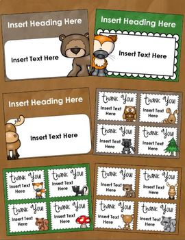Back to School Open House Meet the Teacher Woodland Animals PowerPoint Editable