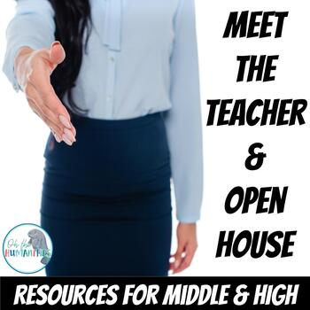 Back to School & Open House Resources for Middle and High