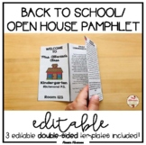 Back to School/Open House Pamphlet {EDITABLE}