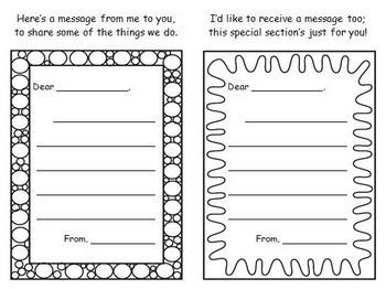 Back to School - Open House Parent Note Exchange