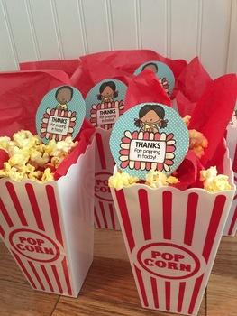 Back to School - Open House Popcorn FREEBIE