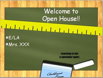 Back to School Open House PowerPoint