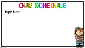 Back to School/Open House PowerPoint (Rainbow Theme) EDITABLE
