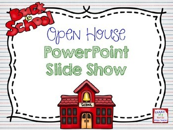 back to school open house powerpoint slide show by not so wimpy teacher