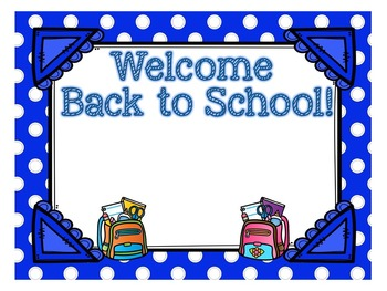 Back to School-Open House PowerPoint Template-Blue Polka Dot Theme