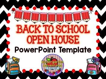 back to school-open house powerpoint template-chevron theme | tpt, Modern powerpoint