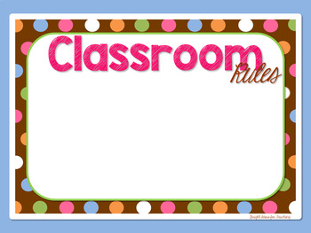 Back to School / Open House Powerpoint Presentation Templates {Brown Polka Dots}
