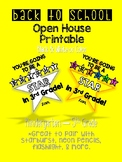 Back to School Open House Printable- Bright Star