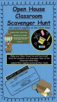 Back to School Open House Scavenger Hunt