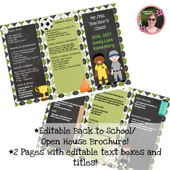 Back to School Open House Sports {Editable} Brochure