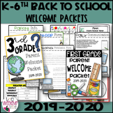 Editable Open House, Back to School, Welcome Parent Packet
