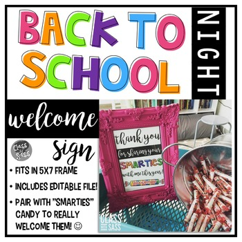 Back to School - Open House - Welcome Sign