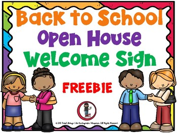 Back to School-Open House Welcome Sign (Freebie)