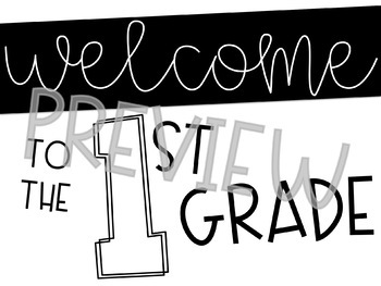Back to School Open House Welcome Signs (1st-8th Grade)