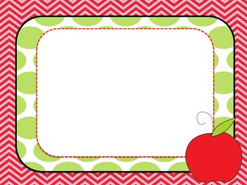 Back to School Open House or First Day of School Template