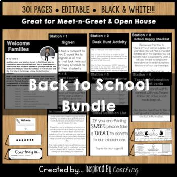 Back to School: Open house/Meet the Teacher BUNDLE
