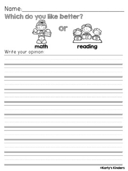 Back to School Opinion Writing