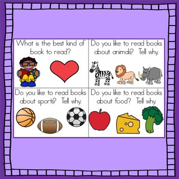 Back to School Opinion writing task cards and graphic organizers