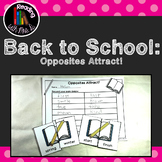 Back to School Opposites Antonyms Game and Recording Page