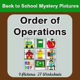 Back to School: Order of Operations - Color-By-Number Mystery Pictures