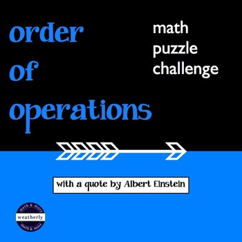 Order of Operations Quote Puzzle