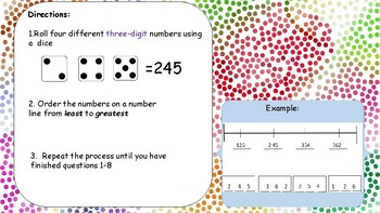 Back to School!Ordering Numbers by Place Value Practice (centers or independent)