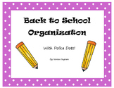 Back to School Organization