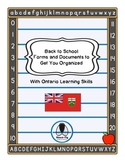 Back to School Organization:  Forms and Files