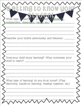 Back to School Organization Pack {Bunting Themed} Black & White