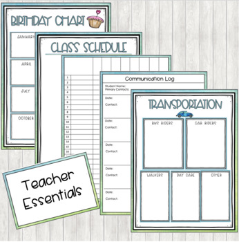 Back to School Organizational Forms, Certificates, and Bookmarks