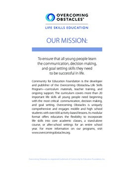 Back-to-School Orientation Handbook: Free @www.overcomingobstacles.org