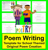 Back to School Activities:  Original Student Poem Graphic Organizer