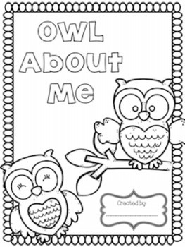 Back to School Owl Themed All About Me Booklet
