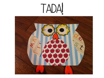 Back to School Owl Craftivity and Writing!