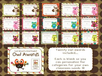 Back to School Owl Theme Mega Bundle (Four Units in One!)