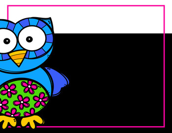 Back to School Owl Theme Editable Open House Slide Show