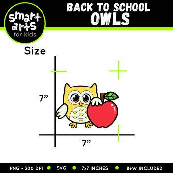 Back to School Owls Clip Art