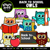 Back to School Owls Clip Art