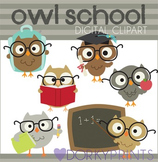 Back to School Owls Clipart