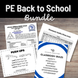 Middle School PE Teacher Resources Back to School Bundle