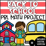 Back to School PBL Math Project