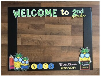 Back to School PHOTO FRAME (Pineapple Theme and School Theme)
