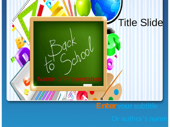 Back to School PPT Template